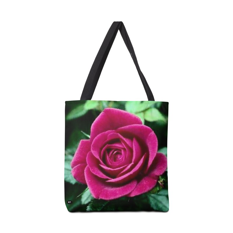 Rose 1 Accessories Tote Bag Bag by Karmic Reaction Art