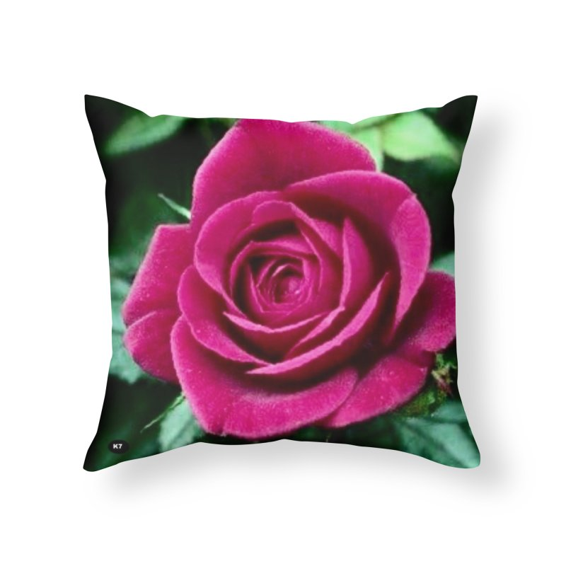 Rose 1 Home Throw Pillow by Karmic Reaction Art
