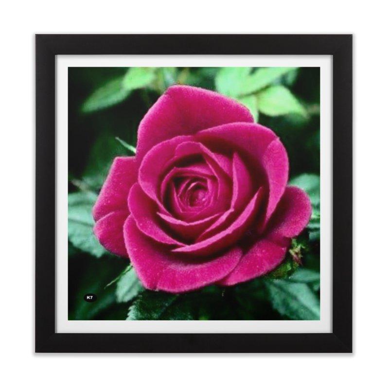 Rose 1 Home Framed Fine Art Print by Karmic Reaction Art