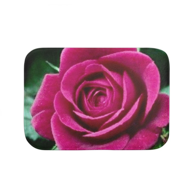 Rose 1 Home Bath Mat by Karmic Reaction Art