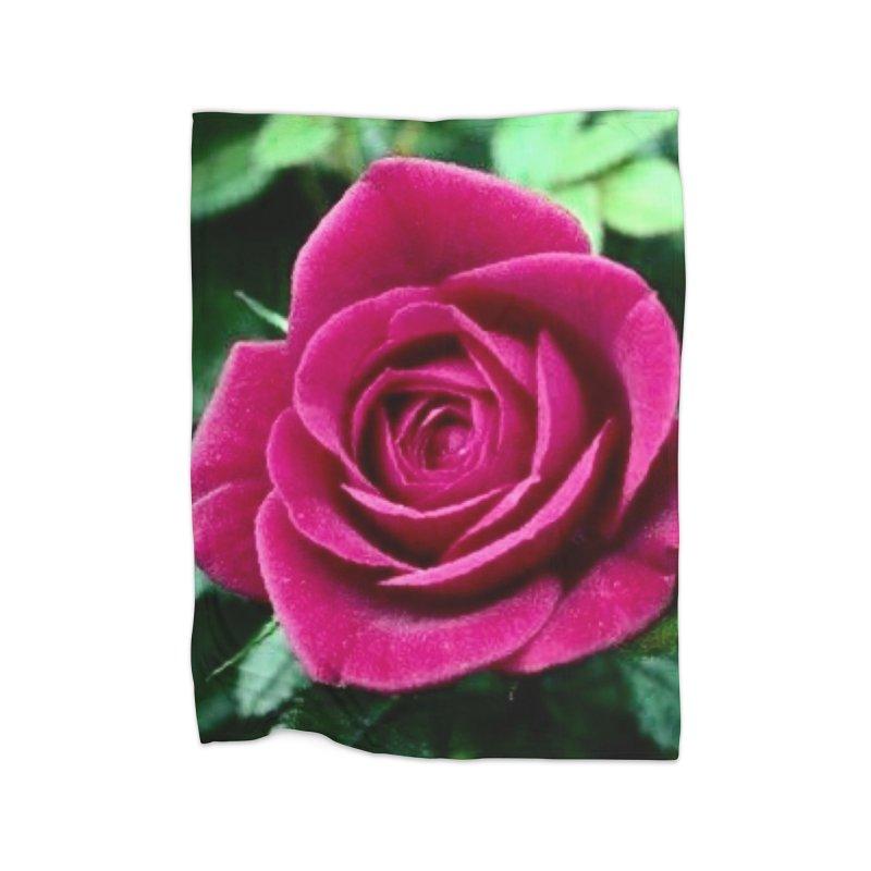 Rose 1 Home Fleece Blanket Blanket by Karmic Reaction Art