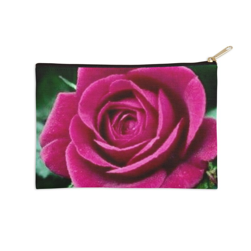 Rose 1 Accessories Zip Pouch by Karmic Reaction Art