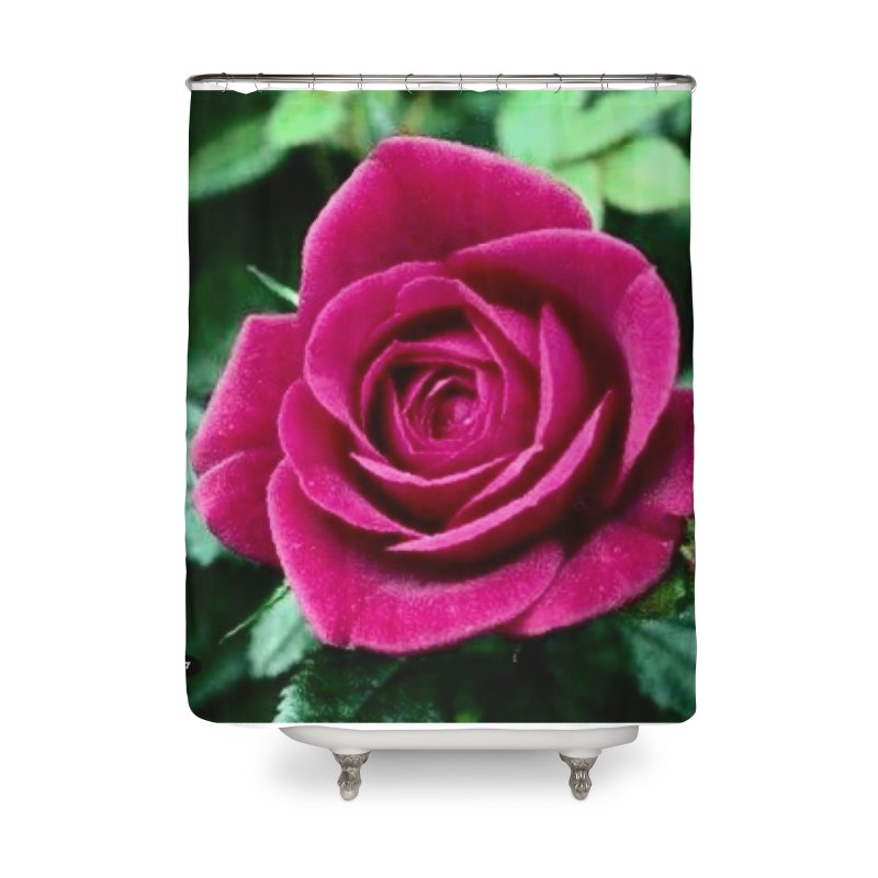 Rose 1 Home Shower Curtain by Karmic Reaction Art