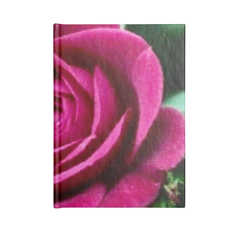 Rose 1 Accessories Blank Journal Notebook by Karmic Reaction Art
