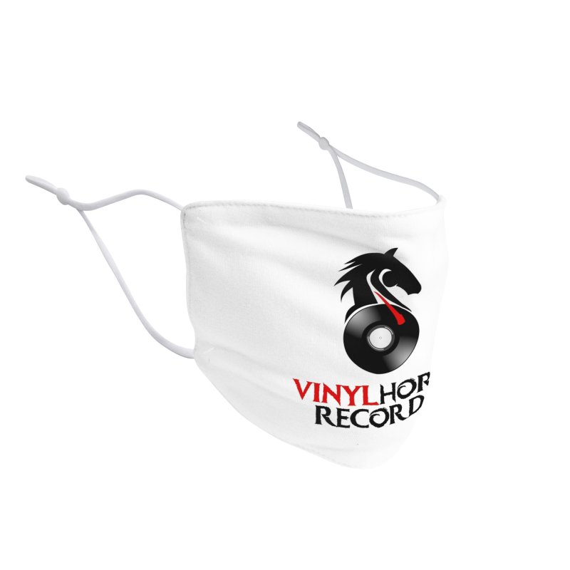 Vinyl Horse Records from the award-winning novel, Whispers On A String (Design by David Strover) Accessories Face Mask by KathleenStone's Artist Shop