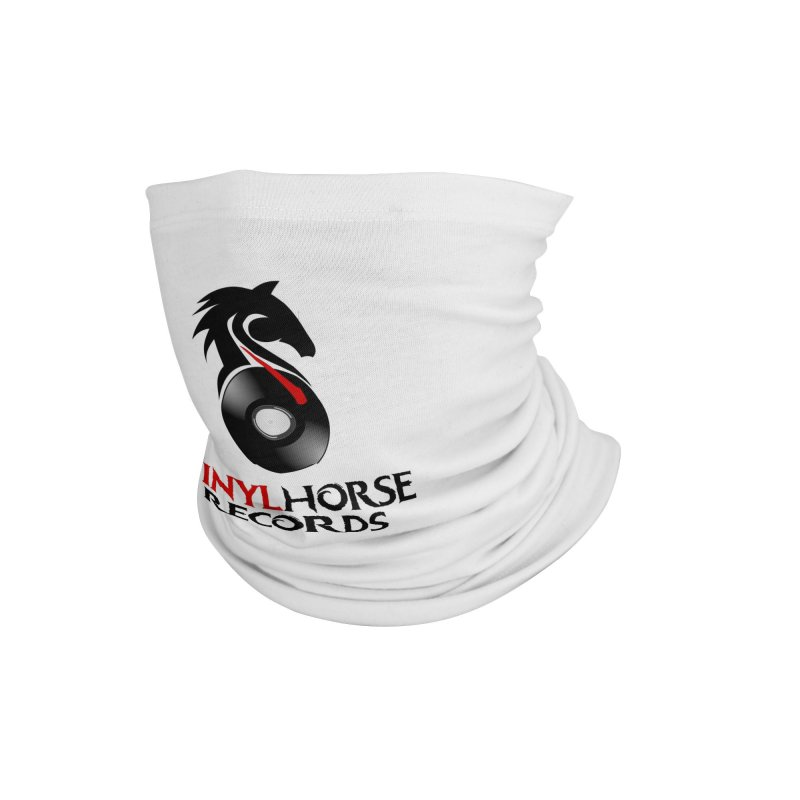 Vinyl Horse Records from the award-winning novel, Whispers On A String (Design by David Strover) Accessories Neck Gaiter by KathleenStone's Artist Shop