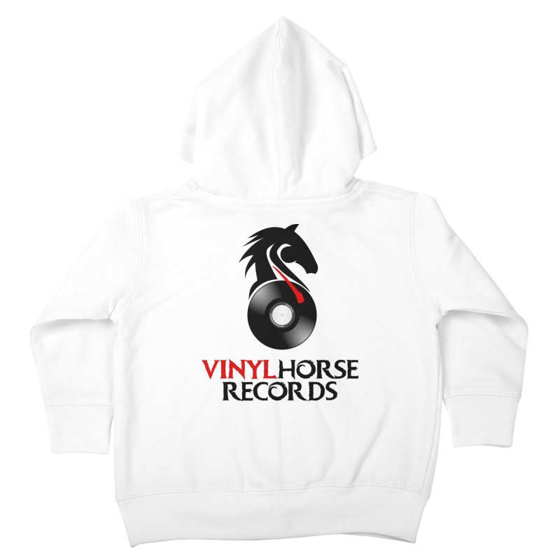 Vinyl Horse Records from the award-winning novel, Whispers On A String (Design by David Strover) Kids Toddler Zip-Up Hoody by KathleenStone's Artist Shop