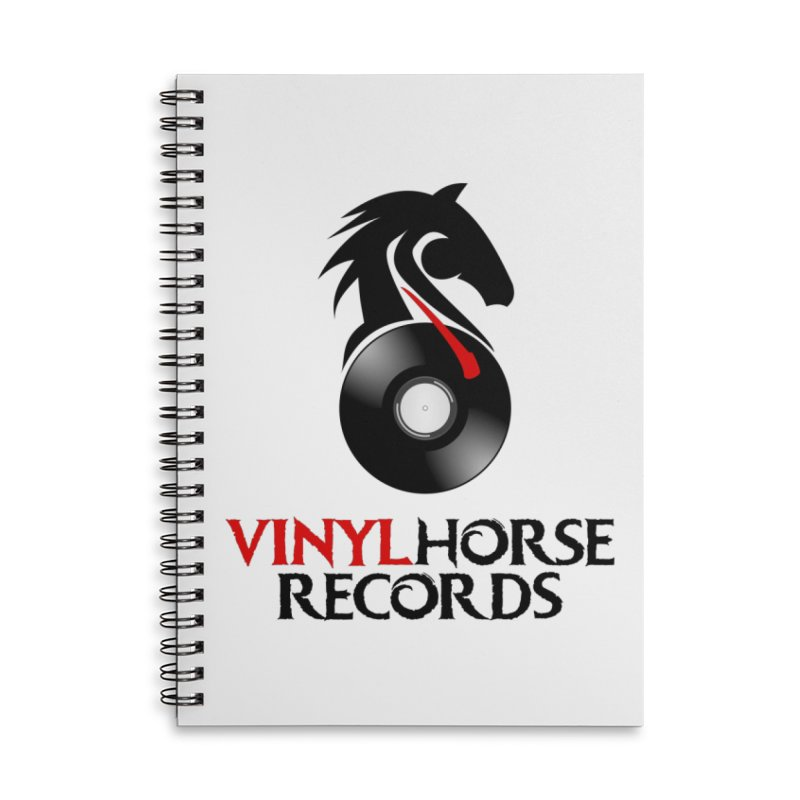 Vinyl Horse Records from the award-winning novel, Whispers On A String (Design by David Strover) Accessories Notebook by KathleenStone's Artist Shop