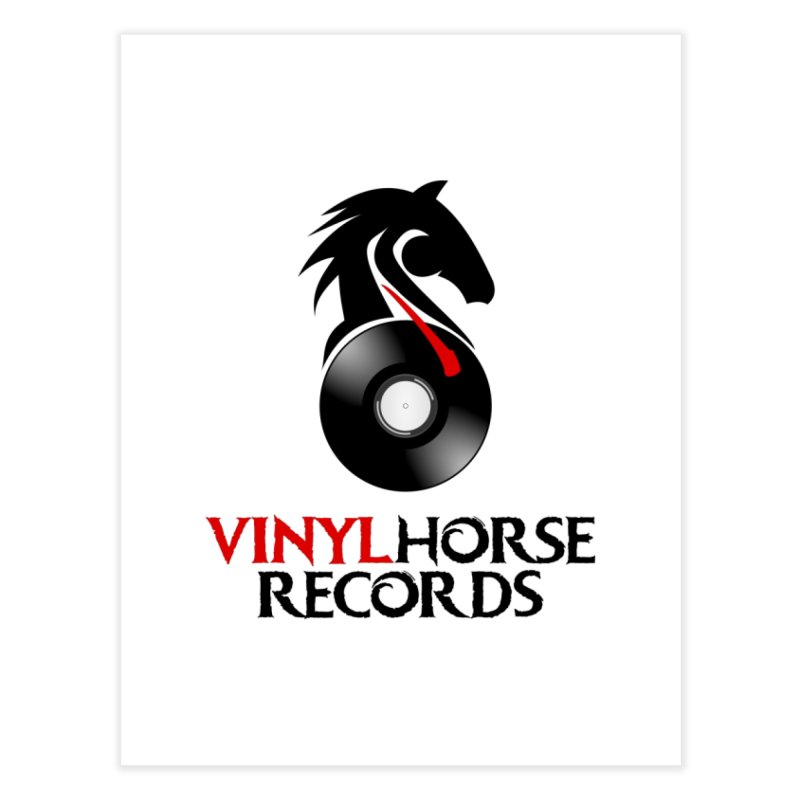 Vinyl Horse Records from the award-winning novel, Whispers On A String (Design by David Strover) Home Fine Art Print by KathleenStone's Artist Shop