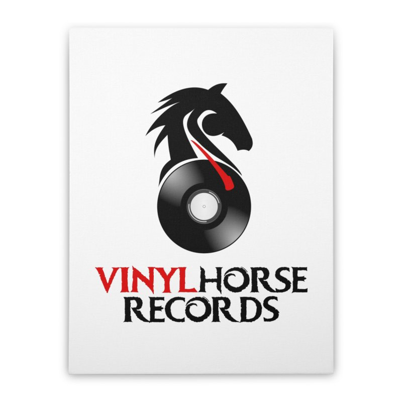 Vinyl Horse Records from the award-winning novel, Whispers On A String (Design by David Strover) Home Stretched Canvas by KathleenStone's Artist Shop