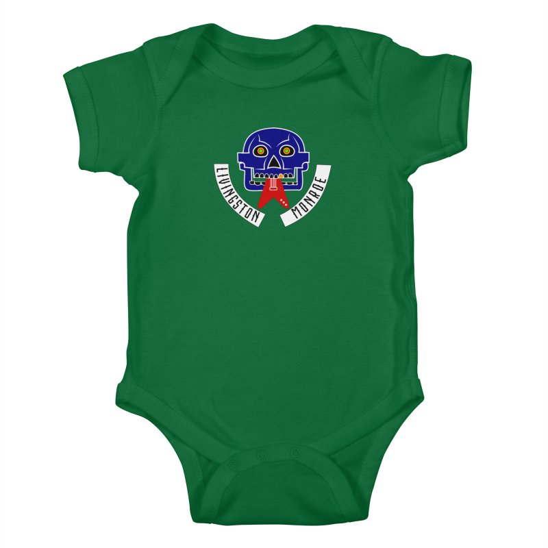 Livingston Monroe, the rock band in the novel, Whispers On A String (design by David Strover) Kids Baby Bodysuit by KathleenStone's Artist Shop