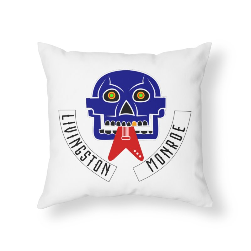 Livingston Monroe, the rock band in the novel, Whispers On A String (design by David Strover) Home Throw Pillow by KathleenStone's Artist Shop