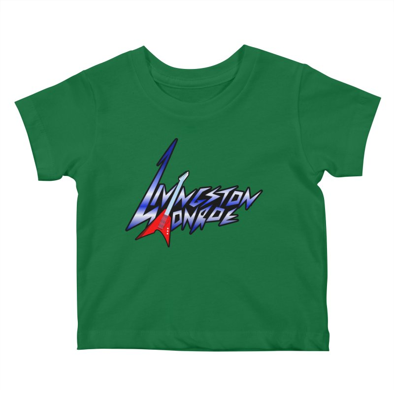 Livingston Monroe, the rock band in the novel, Whispers On A String (design by David Strover) Kids Baby T-Shirt by KathleenStone's Artist Shop
