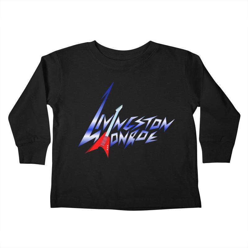 Livingston Monroe, the rock band in the novel, Whispers On A String (design by David Strover) Kids Toddler Longsleeve T-Shirt by KathleenStone's Artist Shop