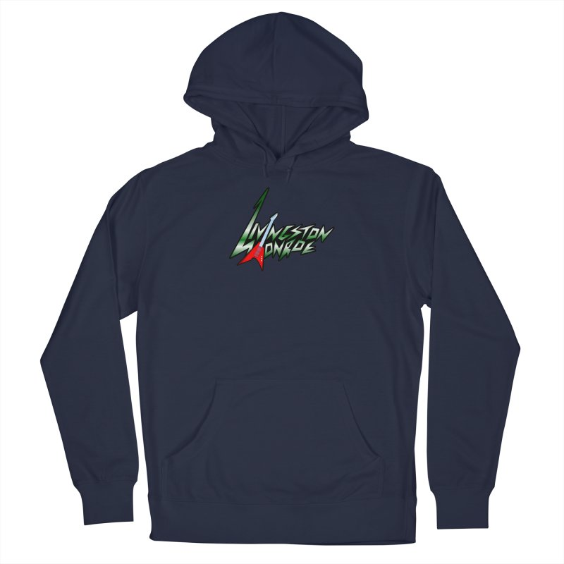 Livingston Monroe, the rock band in the novel, Whispers On A String (design by David Strover) Men's Pullover Hoody by KathleenStone's Artist Shop