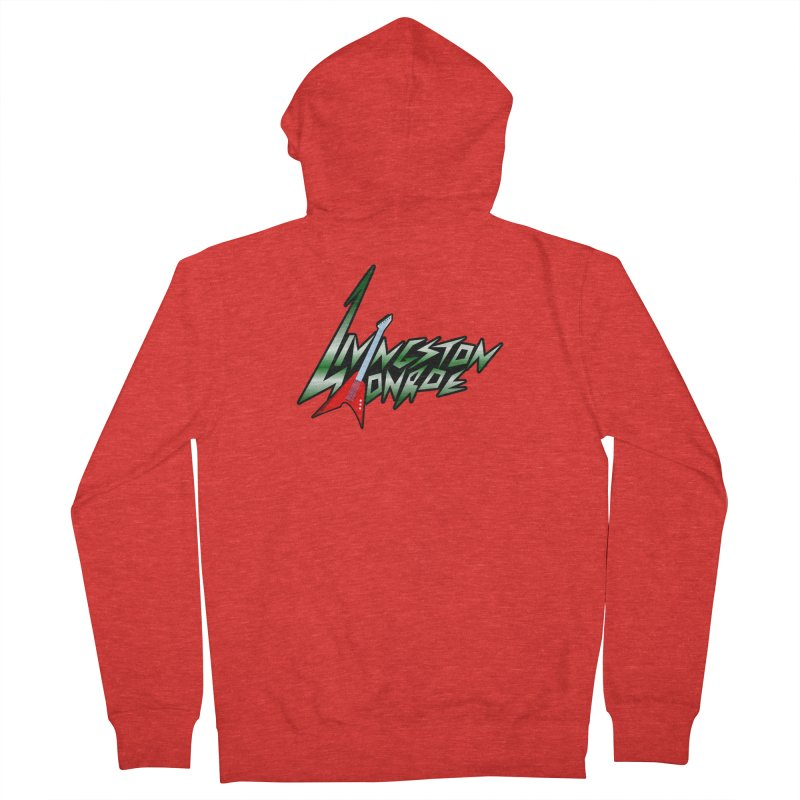 Livingston Monroe, the rock band in the novel, Whispers On A String (design by David Strover) Women's Zip-Up Hoody by KathleenStone's Artist Shop