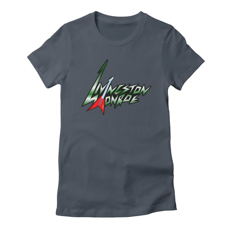 Livingston Monroe, the rock band in the novel, Whispers On A String (design by David Strover) Women's T-Shirt by KathleenStone's Artist Shop