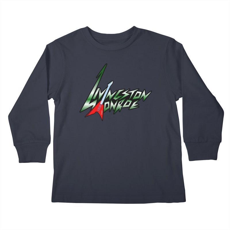 Livingston Monroe, the rock band in the novel, Whispers On A String (design by David Strover) Kids Longsleeve T-Shirt by KathleenStone's Artist Shop