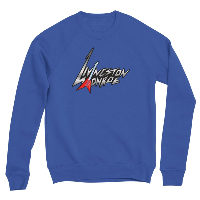 Livingston Monroe, the rock band in the novel, Whispers On A String (design by David Strover) Men's Sweatshirt by KathleenStone's Artist Shop