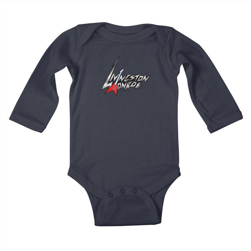 Livingston Monroe, the rock band in the novel, Whispers On A String (design by David Strover) Kids Baby Longsleeve Bodysuit by KathleenStone's Artist Shop
