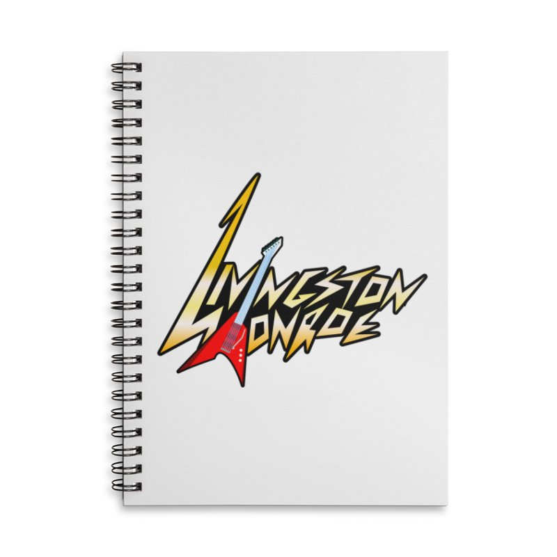 Livingston Monroe, the rock band in the novel, Whispers On A String (design by David Strover) Accessories Notebook by KathleenStone's Artist Shop