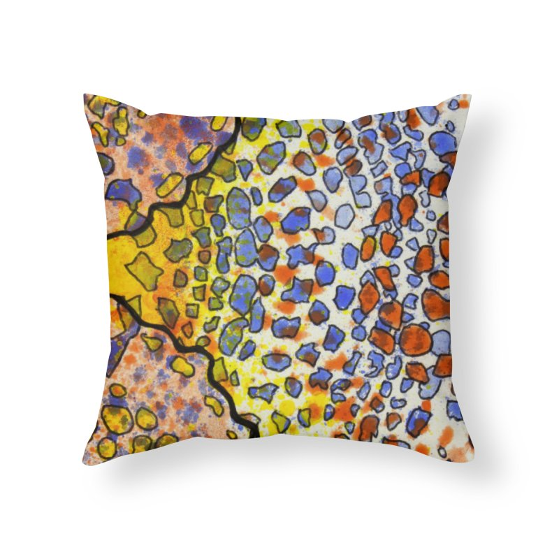 3, Inset A Home Throw Pillow by Katie Schutte Art