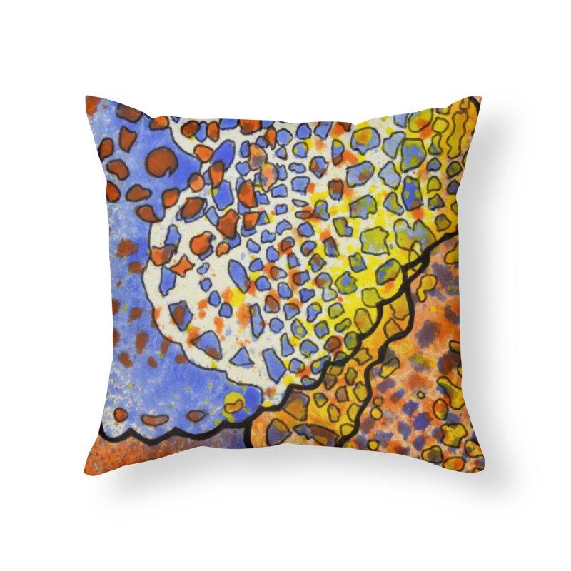 3, Inset C Home Throw Pillow by Katie Schutte Art