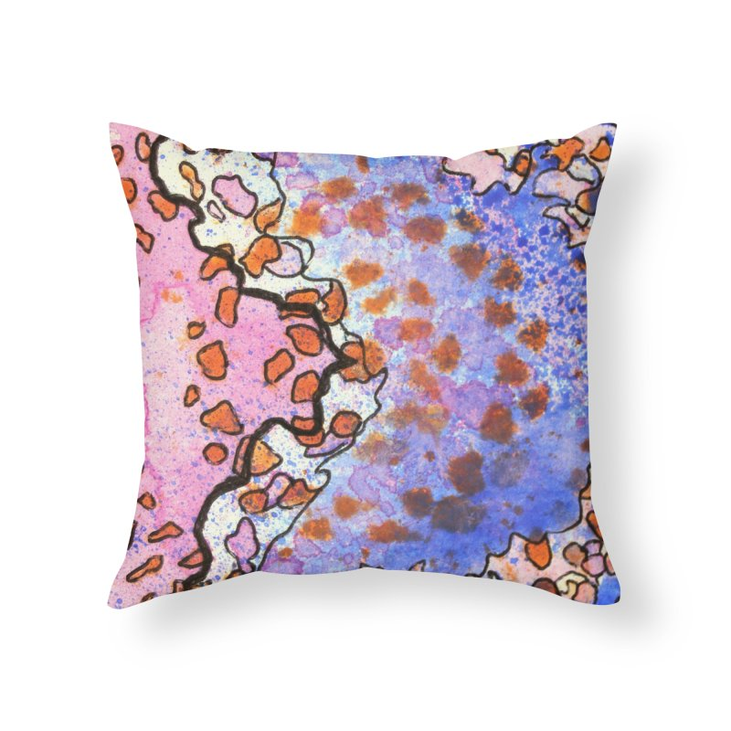 4, Inset A Home Throw Pillow by Katie Schutte Art