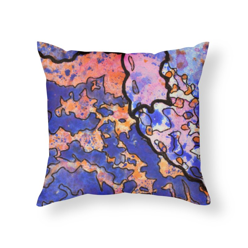 4, Inset C Home Throw Pillow by Katie Schutte Art