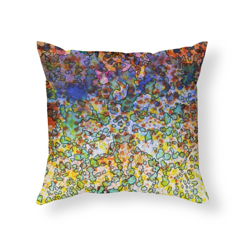 5, Inset C Home Throw Pillow by Katie Schutte Art