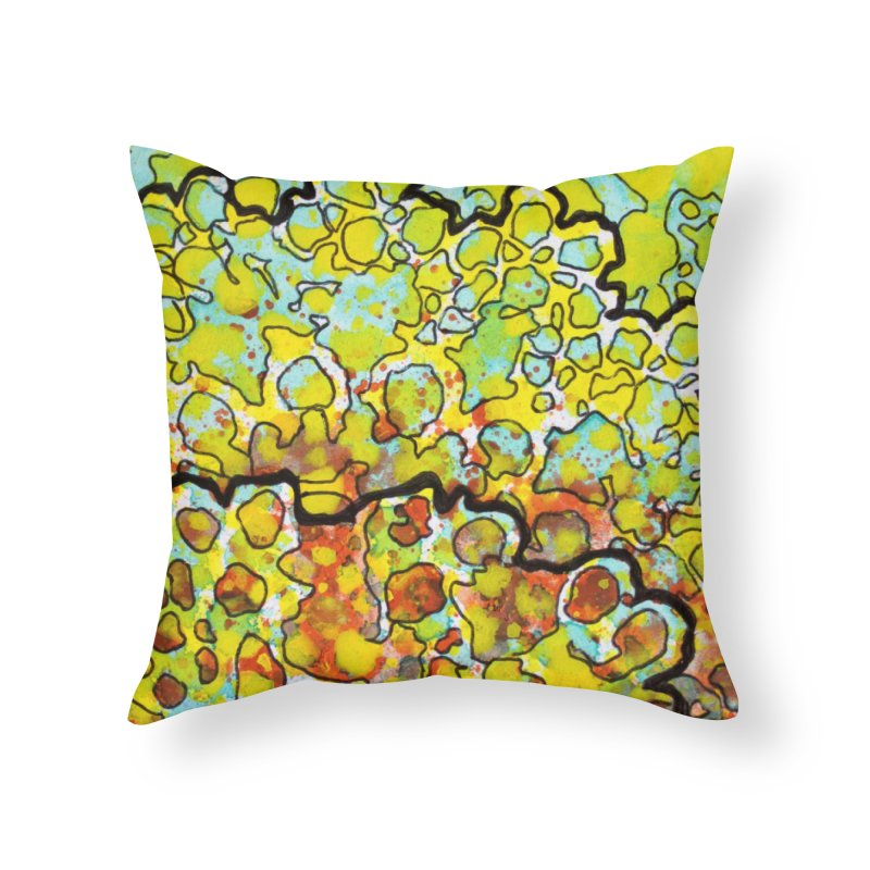 6, Inset A Home Throw Pillow by Katie Schutte Art