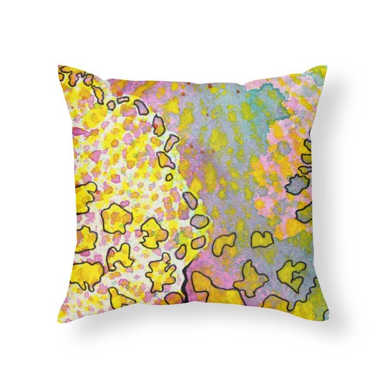 9, Inset A Home Throw Pillow by Katie Schutte Art