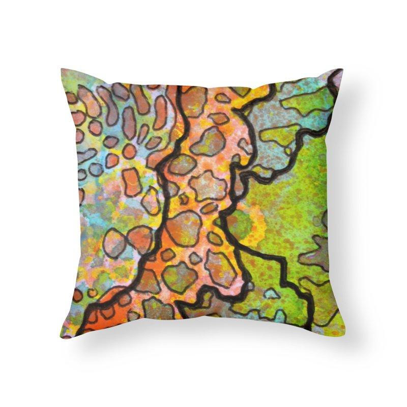 13, Inset B Home Throw Pillow by Katie Schutte Art