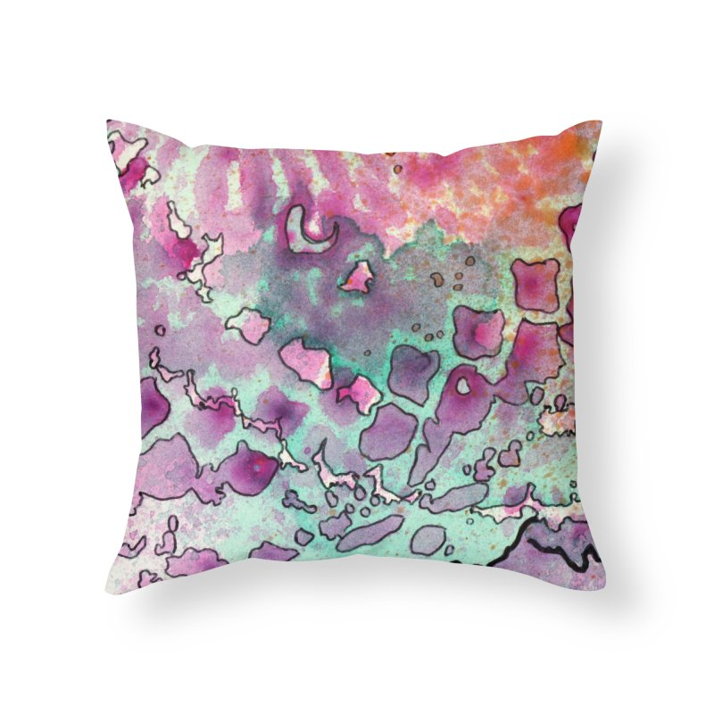 15, Inset A Home Throw Pillow by Katie Schutte Art