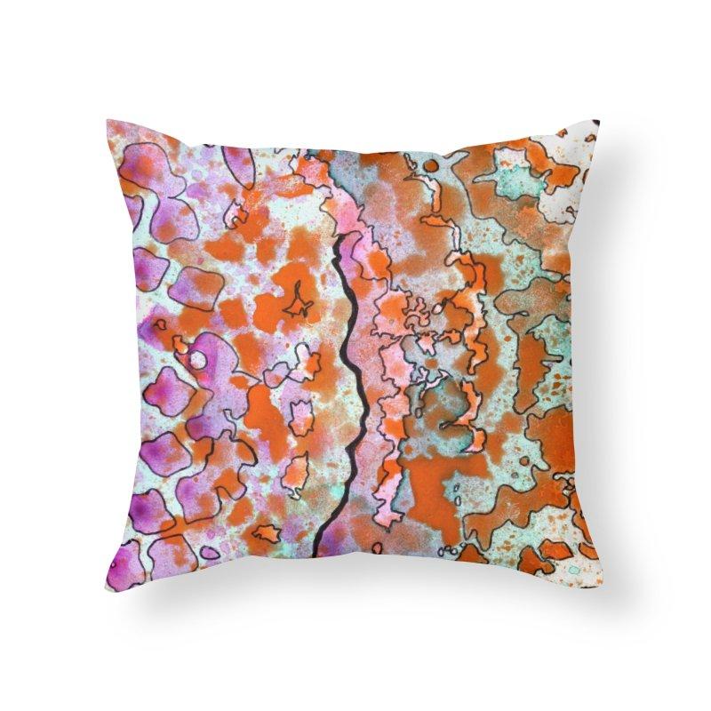 15, Inset B Home Throw Pillow by Katie Schutte Art