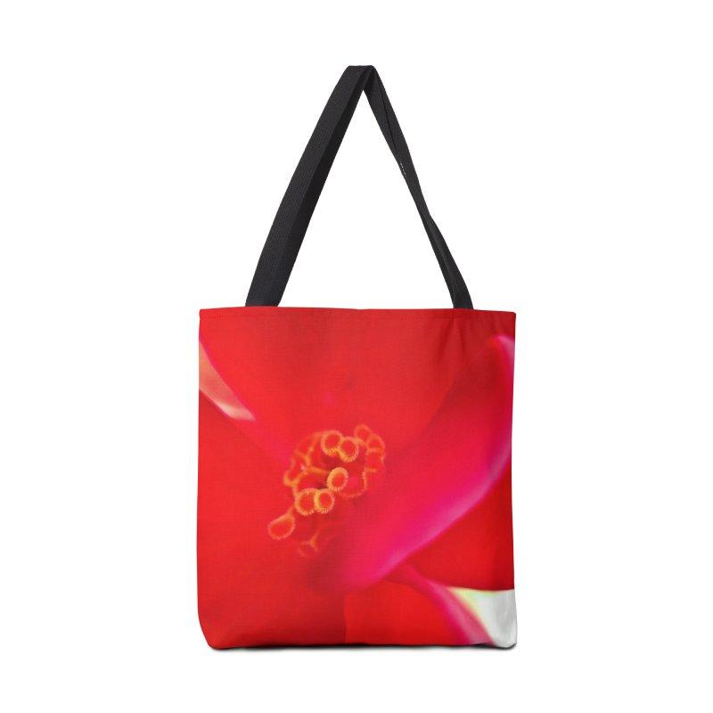 Red Flower 1 Accessories Tote Bag Bag by Katie Schutte Art