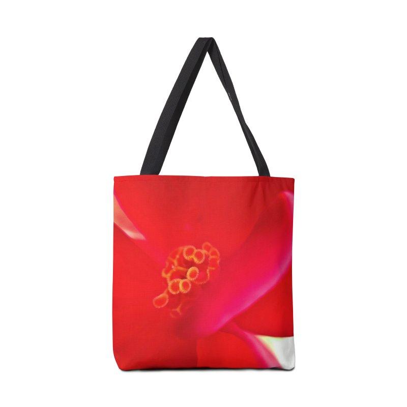 Red Flower 1 Accessories Bag by Katie Schutte Art