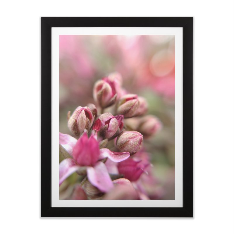 Cluster Buds in Framed Fine Art Print Black by Katie Schutte Art