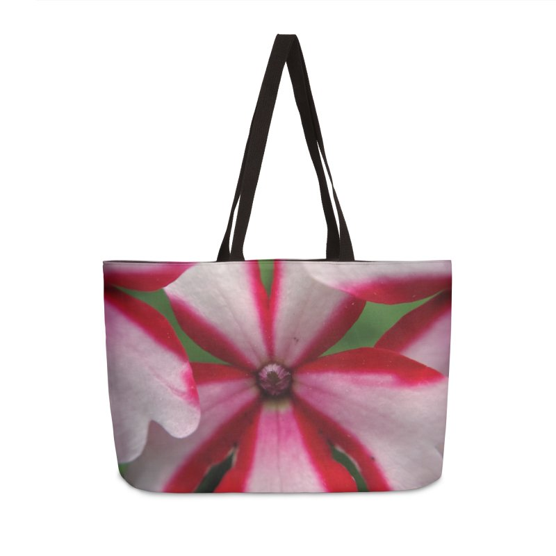 Pink Stripes 1 Accessories Weekender Bag Bag by Katie Schutte Art