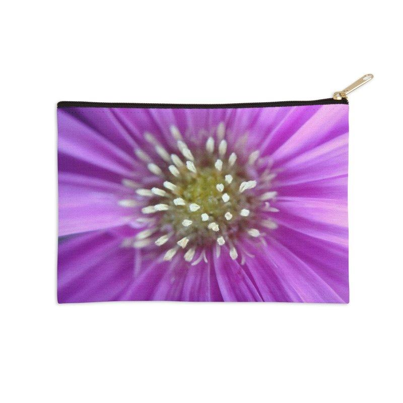 Purple Sun Accessories Zip Pouch by Katie Schutte Art