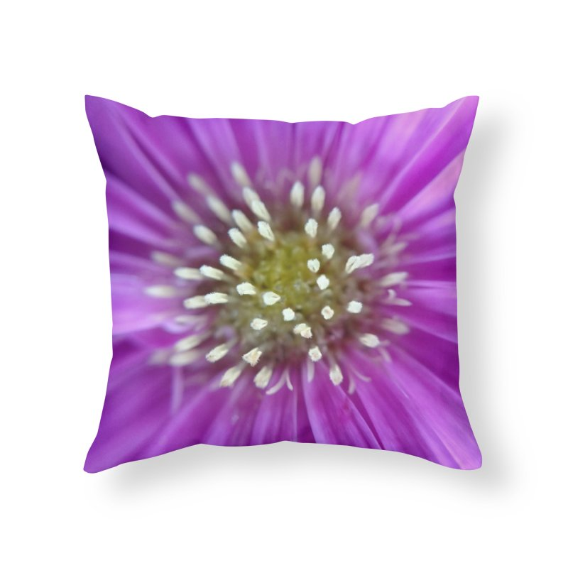 Purple Sun Home Throw Pillow by Katie Schutte Art
