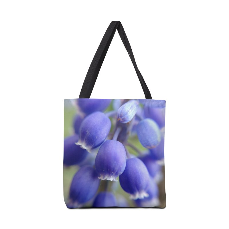 Purple Bells Accessories Bag by Katie Schutte Art