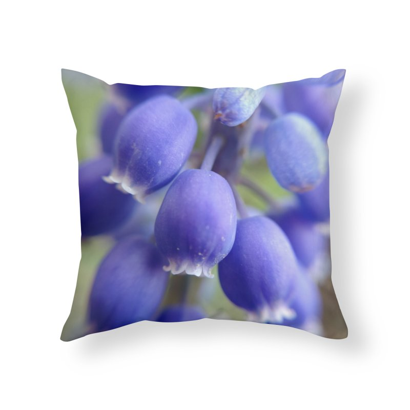 Purple Bells Home Throw Pillow by Katie Schutte Art