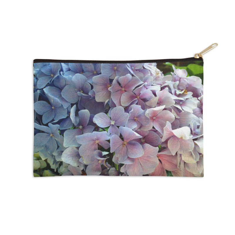 Hydrangea Accessories Zip Pouch by Katie Schutte Art