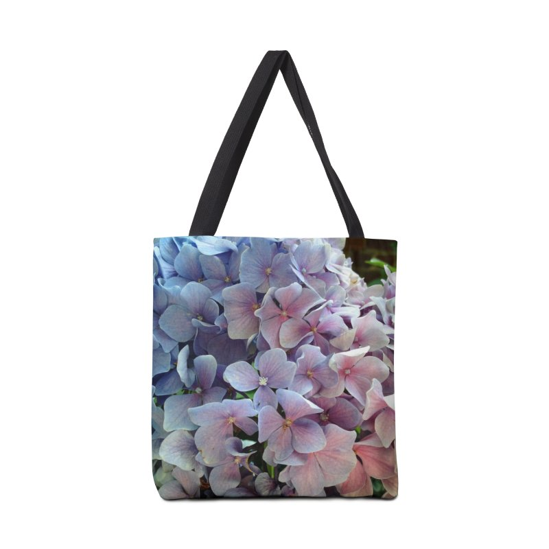 Hydrangea Accessories Bag by Katie Schutte Art