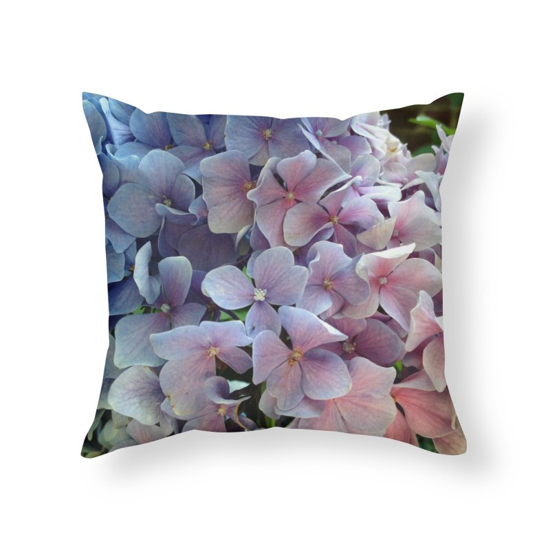 Hydrangea Home Throw Pillow by Katie Schutte Art
