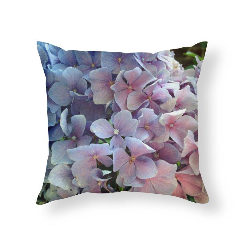 Hydrangea Home Throw Pillow by Katie Schutte Art