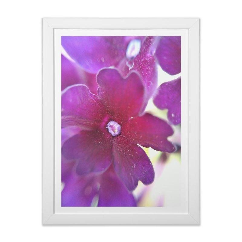 Purple Flower Home Framed Fine Art Print by Katie Schutte Art