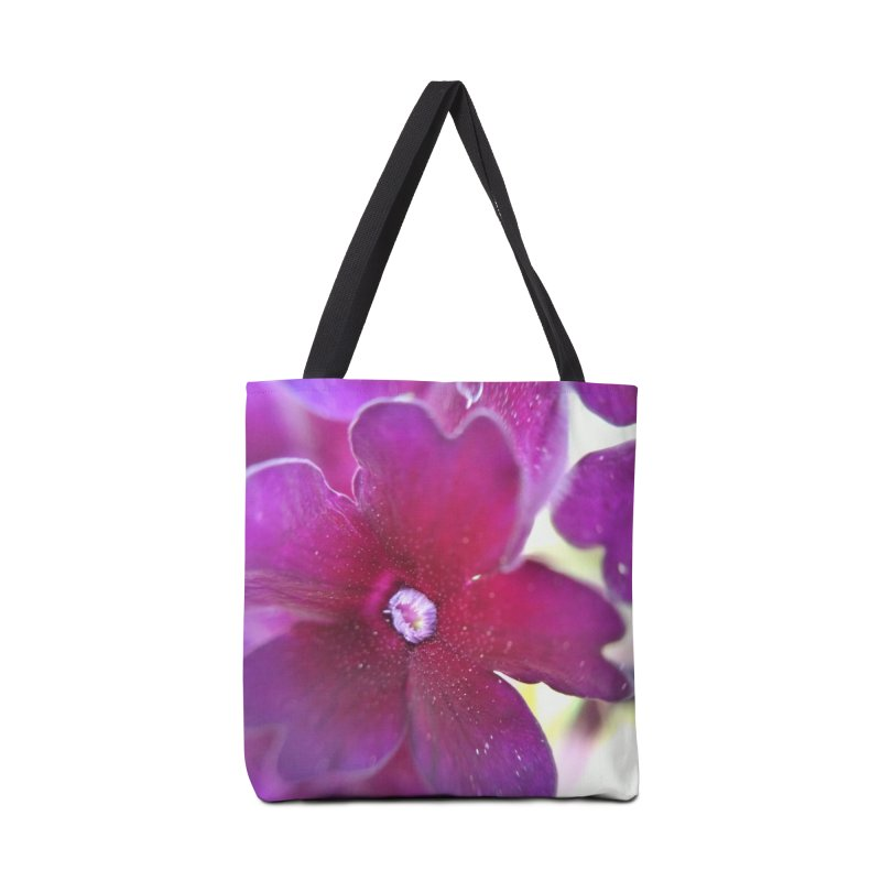 Purple Flower Accessories Bag by Katie Schutte Art