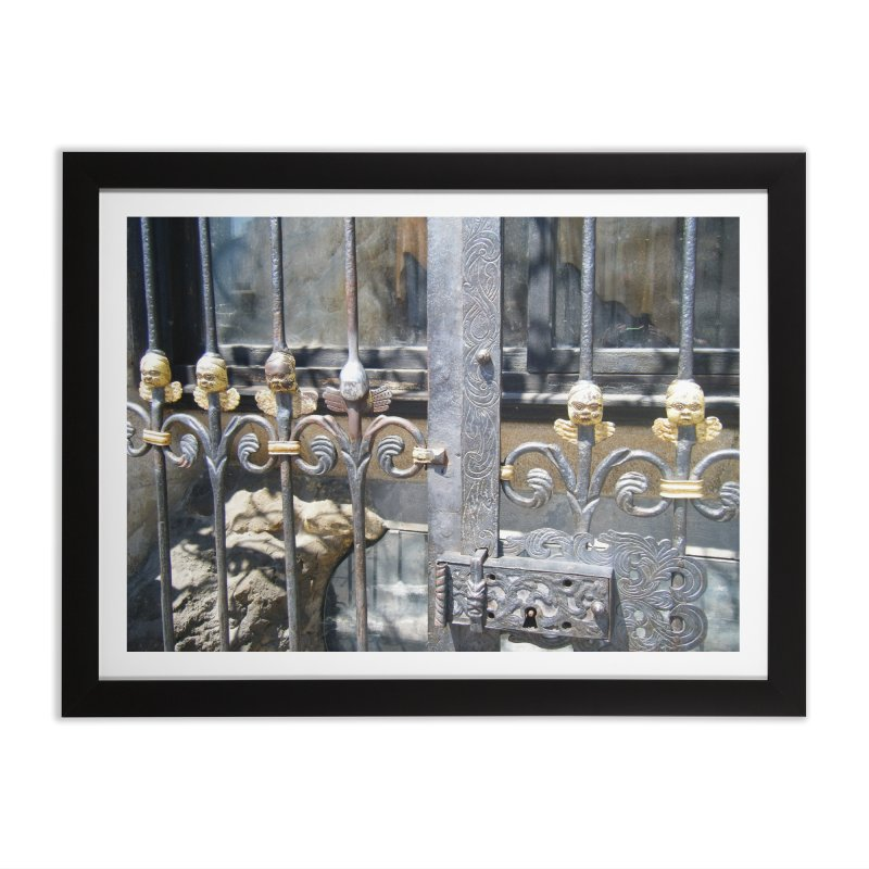 Lucky Angel Home Framed Fine Art Print by Katie Schutte Art